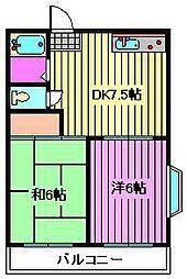 第2ユニオンハイツ[2階]の間取り