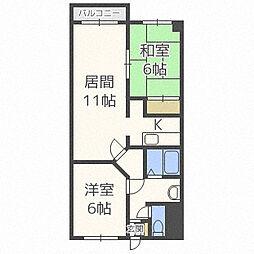 北海道札幌市西区二十四軒一条7丁目の賃貸マンションの間取り