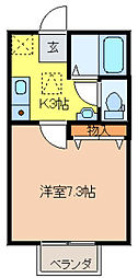 ブラウンカゴハラ[2階]の間取り