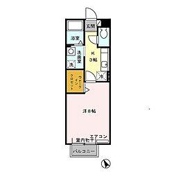 愛知県西尾市永吉1丁目の賃貸アパートの間取り