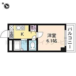 エリーフラッツ西京極[604号室]の間取り