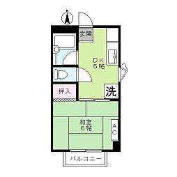 ジョイントファミーユB棟[2階]の間取り