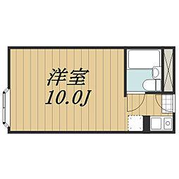 千葉県富里市日吉台1丁目の賃貸マンションの間取り