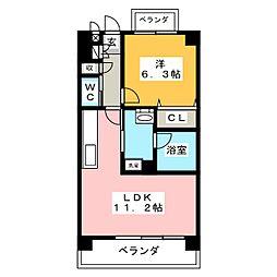 レージュ桜山[4階]の間取り
