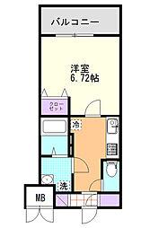 (仮)D-Room東高砂[202号室]の間取り