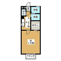 コーポKei[1階]の間取り