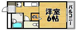 兵庫県川西市栄根2丁目の賃貸マンションの間取り