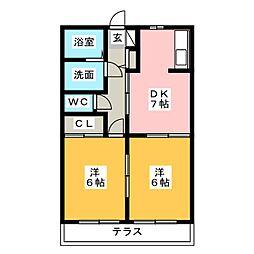 スキヤハイツV[1階]の間取り