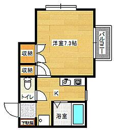 アパートメントイースト[1階]の間取り
