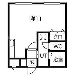 モスト豊平8・9[1階]の間取り