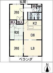 アビタシオン B棟[3階]の間取り