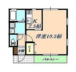 兵庫県神戸市垂水区塩屋町6の賃貸アパートの間取り