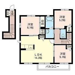 シャーメゾン・K B[2階]の間取り