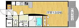 LUMOII天満[6階]の間取り