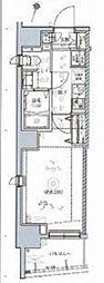 東京メトロ東西線 木場駅 徒歩15分の賃貸マンション 3階1Kの間取り