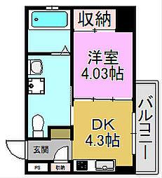 プログレスアペゼ[5階]の間取り