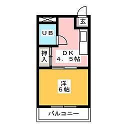 コーポ八田[3階]の間取り