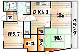 フィールド1[4階]の間取り