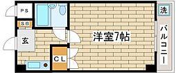 兵庫県神戸市須磨区妙法寺字荒打の賃貸マンションの間取り