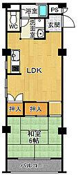 夙川第3コーポラス[4階]の間取り