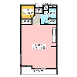 ふぁみーゆ旭川[4階]の間取り