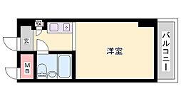コスモプラザ三宮[6階]の間取り