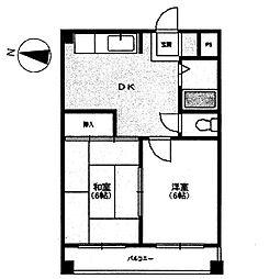 黒部ビル[2階]の間取り
