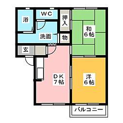 メゾングランシャリオII[2階]の間取り