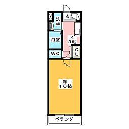 メゾンKH[1階]の間取り