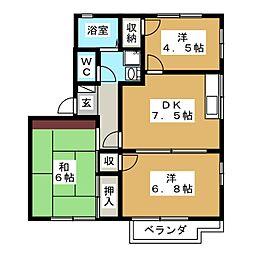 フレグランスJA C棟[2階]の間取り