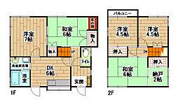 [一戸建] 福岡県北九州市小倉南区長行西5丁目 の賃貸【/】の間取り