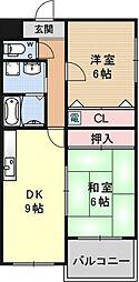 エクシードSS[3A号室号室]の間取り