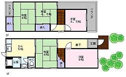 [一戸建] 大阪府堺市中区深井中町 の賃貸【/】の間取り