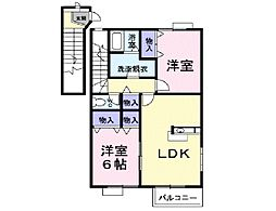 TOWN HOUSE C[2階]の間取り