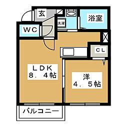 SUPERIAGE N19(スペリアージュ)[2階]の間取り