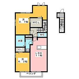 D−room伊豆島田[2階]の間取り