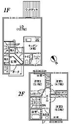 [タウンハウス] 北海道釧路市芦野2丁目 の賃貸【北海道 / 釧路市】の間取り