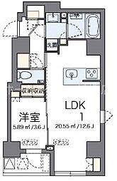 LOVIE銀座東[4階]の間取り