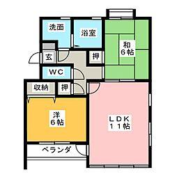 プリミエール勝川[3階]の間取り