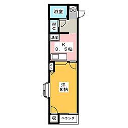 ハイツ318[1階]の間取り