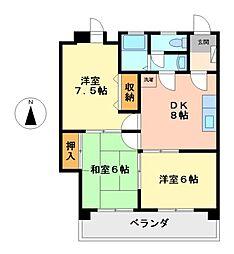 愛知県名古屋市西区庄内通1丁目の賃貸マンションの間取り