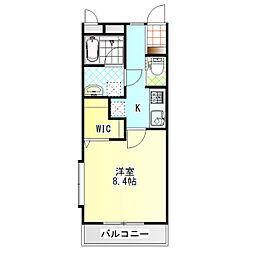 ジ・アパートメント下堀[101号室]の間取り