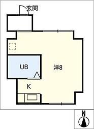ピーコックビル[1階]の間取り