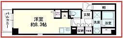 パークフロント亀戸 2階ワンルームの間取り