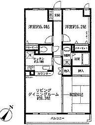 クレストコート東戸塚I[2階]の間取り