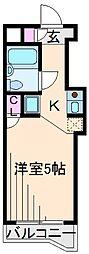 神奈川県横浜市港北区綱島東4の賃貸マンションの間取り