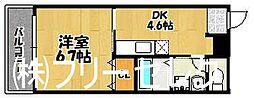 福岡県福岡市博多区元町1丁目の賃貸マンションの間取り