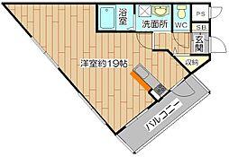 フレアコート[3階]の間取り