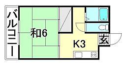 伊藤マンション[203 号室号室]の間取り
