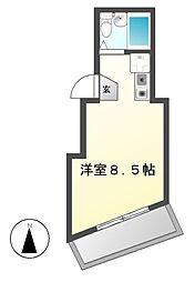 アロスビル[3階]の間取り